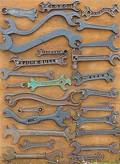 collection of antique wrenches …