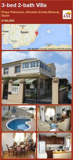 3-bed 2-bath Villa in Playa Flamenca, Alicante (Costa Blanca), Spain ►€160,000 #PropertyForSaleInSpain