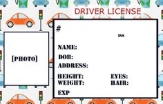 road and car templates for kids | Smile Like You Mean it: Personalized Credit Cards for Kids