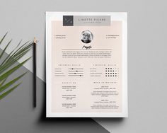 Clean Resume Template And Cover Letter By This Paper Fox On Etsy