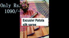 Patola Silk Saree Wholesale Price: 1090/- ||Silk Saree Manufacturer  ||O... Silk Sarees Online Shopping, Saree Shopping, Buying Wholesale, Weaving, Make It Yourself, Blog, Design, Blogging