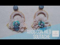 Aretes Redondos con hilo Soutache super facil de hacer - YouTube Flower Earrings, Beaded Earrings, Crochet Earrings, Jewelry Gifts, Jewelery, Handmade Jewelry Tutorials, Soutache Jewelry, Handmade Dresses, Beautiful Rings