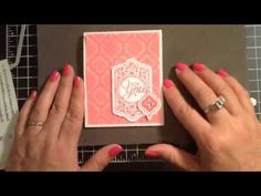 Stampin' Up! Video Tutorial Chalk Talk Thank You Card