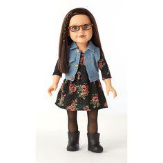 "Journey Girls 18 inch Doll - Dana in Black Floral Knit Dress - Toys R Us - Toys ""R"" Us Dana *****"