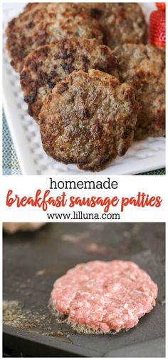 Homemade breakfast sausage is so easy to whip up in your kitchen and will taste 100 better than anything youll find in the freezer section at the grocery store Recipes Using Breakfast Sausage, Homemade Sausage Recipes, Breakfast Sandwich Recipes, Sausage Breakfast, Brunch Recipes, Best Pork Sausage Recipe, Brunch Ideas, Dinner Recipes, How To Make Breakfast