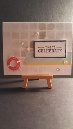 Time to Celebrate www.etsy.com/shop/jengirlsdesigns #etsy #jengirlsdesigns #handmade #card #handmadecard #etsyshop #etsystore #etsyseller #etsysellers #etsyusa #etsyfinds #greetingcards #papercrafts #papercrafting #cardmaking #celebrate #nautical