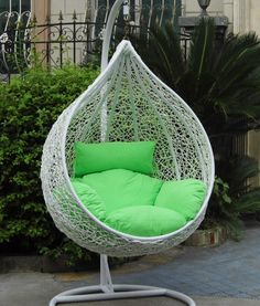 20 Adorable and Comfy Bedroom Swing Chairs Hammock Chair Stand, Hanging Swing Chair, Swinging Chair, Swing Chairs, Hanging Chairs, Room Chairs, Hanging Basket, Cafe Chairs, Lounge Chairs