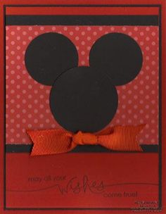 Mickey Mouse | http://cutegreetingcards.blogspot.com