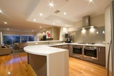 Blackbutt floors in kitchen Miro, North Beach, Contemporary Classic, House Colors, New Homes, House Design, Flooring, Reno Ideas, Kitchens