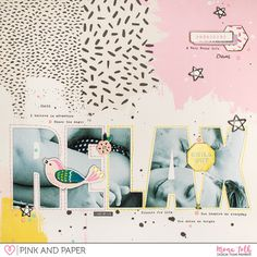 OLW layout with Crate Paper Good Vibes collection by Mona Toth.