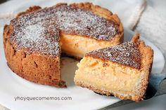 Tarta de queso alemana – käsekuchen- Recetas – Y hoy qué comemos – Pastel de receta sencilla Cheesecake, Desert Recipes, Cakes And More, Flan, Marsala, Beautiful Cakes, Cake Recipes, Food And Drink, Cooking Recipes