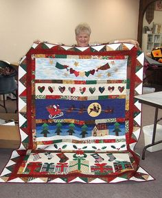 Christmas Row Quilt. Love this!