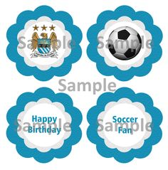 Creative Printables Home Birthday Party Themes, Birthday Cakes, Tri Cities, Manchester City, City Party, Cupcake Toppers, Creative, Happy, Party Ideas