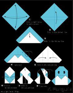 Penguin - Easy Origami instructions For Kids
