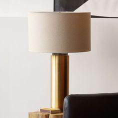 Pillar Table Lamp - Antique Brass | west elm