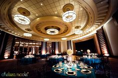 teal reception decor
