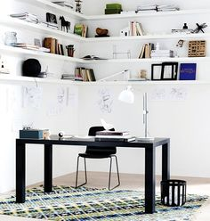 Work space: Lugo desk and London chair, BoConcept