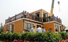 China construyeron una casa en 3 horas, con una super impresora 3D