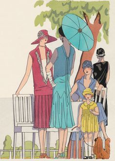 Fashionable Ladies and Girls of the 1920s | 1920s Fashion Anytime Greeting Cards