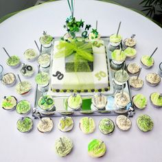 liked the main cake and all the surrounding cupcakes, good idea to fit 50 candles
