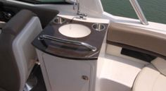 Sea Ray 250 SLX: This is a photo of the standard wet bar taken aboard another 250 SLX.