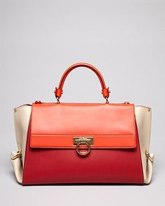 Salvatore Ferragamo Satchel - Sofia Mid Color Block | Bloomingdale's