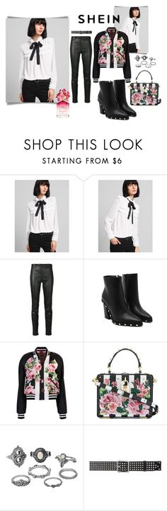 """""""A little edge"""" by bigdaddytaryn ❤ liked on Polyvore featuring Yves Saint Laurent, Dolce&Gabbana, Charlotte Russe, Alexander McQueen and Marc Jacobs"""