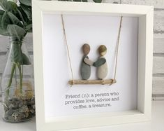 Personalised Cornish Pebble Art made just for you! Pebble Pictures, Art Pictures, Stone Pictures, Framed Wooden Letters, Christening Gifts For Girls, Champagne Birthday, Loved One In Heaven, Pebble Art Family, Picture Gifts