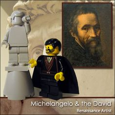 "LEGO Michelangelo & The ""David"" Statue 