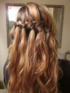 waterfall braid. hair inspiration