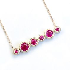 Ruby Necklace Ruby Jewelry Gold Ruby Necklace July by NIXIN, $1,070.00