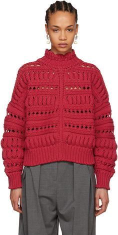 Isabel Marant for Women Collection Lace Sweater, Mohair Sweater, Knitwear Fashion, Knit Fashion, Crochet Designs, Knitting Designs, Knitting Wool, How To Purl Knit, Crochet Top