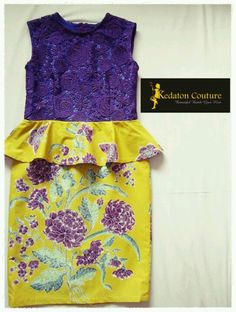 Purple and yellow batik dress by Kedaton Couture