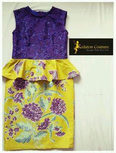 Purple and yellow batik dress by Kedaton Couture