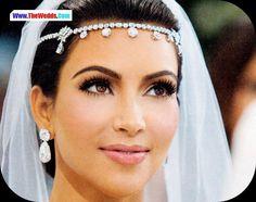 beautiful Kim Hardashian wedding makeup