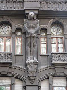 Art Déco - Façade d'un immeuble en Argentine