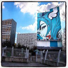 DFace @ Paris... Work in progress Almost done... .  Photo : Lionel Belluteau Plus de photos sur https://ift.tt/YMhG58  @dface_official @galerie_itinerrance #streetart13 #dface #d_face #paris #graffiti #parisgraffiti #urbanart #wallpainting #urbanartparis #itinerrance #galleryitinerrance @mairie13paris #lionelbelluteau @unoeilquitraine