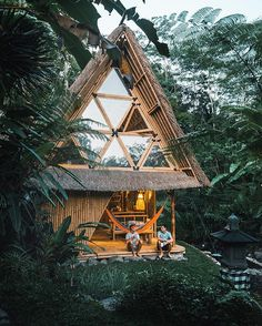 Nice place for a morning cup of tea. First night in Bali was spent well. @doyoutravel Cabin: @hideoutbali #Bali #cabin #cabinporn #bungalow #treehouse