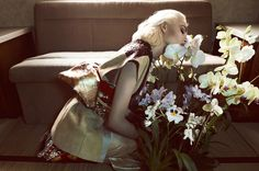 Camilla Akrans photographs 'When Life was Exotic' with Nadja Bender for Vogue Japan. Styled by Sissy Vian, Apr 2013