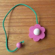 Aarikka Finland Vintage Pink Flower Bookmark Amica #Aarikka