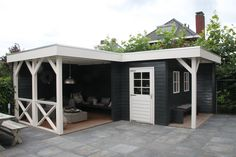 outdoor shed ideas Backyard Sheds, Outdoor Sheds, Outdoor Rooms, Outdoor Gardens, Outdoor Living, Garden Cabins, Building A Porch, Outside Living, Garden Buildings