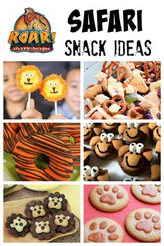 Safari Snack Ideas for Kids children's party catering Jungle Book party for Cubs Jungle Theme Parties, Safari Party, Safari Theme, Jungle Safari, Jungle Party, Jungle Snacks, Animal Snacks, Bible School Snacks, Bible School Crafts