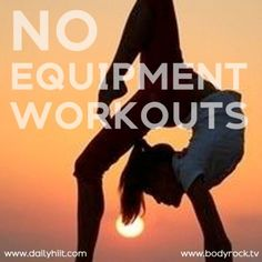 Printable No Equipment Workouts for Vacation