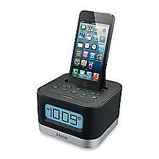 iHome® Stereo FM Clock Radio w/Lightning Dock