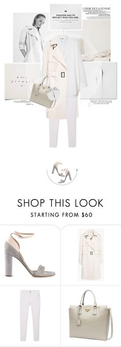 """""""Untitled #76"""" by cotonfrais ❤ liked on Polyvore featuring Chloé, La Femme, KENNY, MANGO, Prada, women's clothing, women's fashion, women, female and woman"""