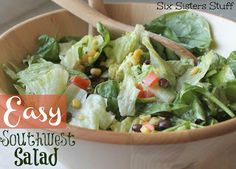 Easy Southwest Salad from Sixsistersstuff.com #salad #recipe #healthy