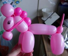 Just started balloon twisting and tried a horse...