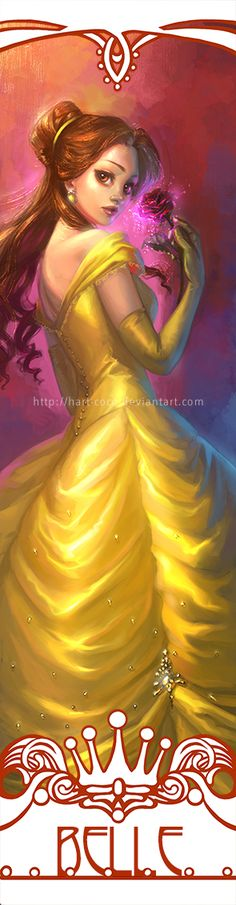 Disney Princesses Bookmarks: Belle by hart-coco on DeviantArt