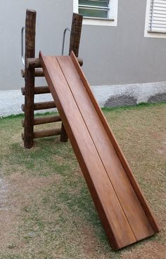 Kids Backyard Playground, Cozy Backyard, Backyard For Kids, Backyard Projects, Outdoor Projects, Outdoor Decor, Diy Slides, Kids Outdoor Play, Wood Projects For Kids