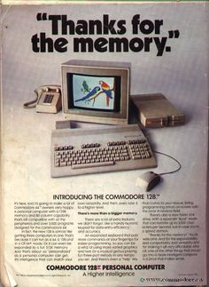 128k of memory...great then; funny now.